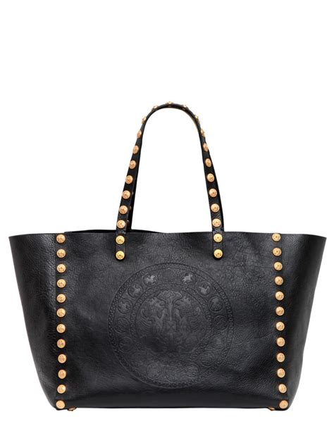 Valentino Studded Tote by Valentino Gryphon Studded Leather Tote Bag In Black Lyst
