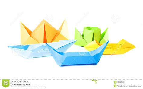 Origami Figure - origami figure of boats stock photo image 16147580
