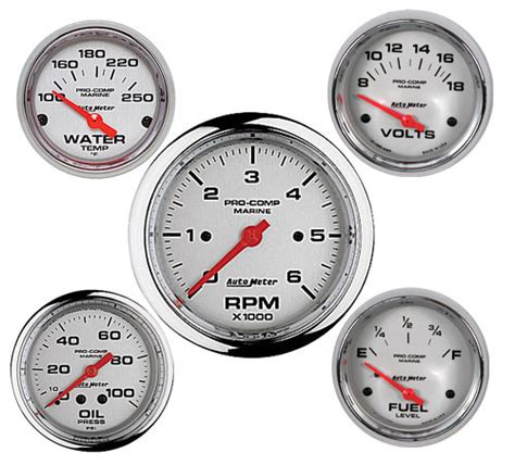 boat combo gauges autometer marine gauge kits