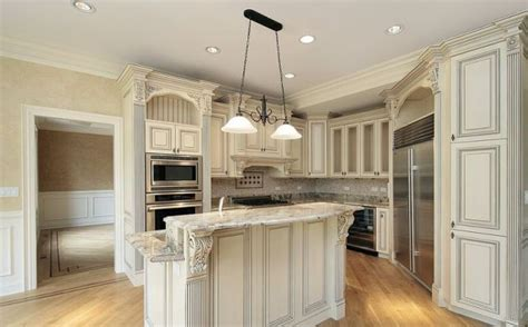 kitchens with antique white cabinets white kitchen cabinets granite countertop antique white