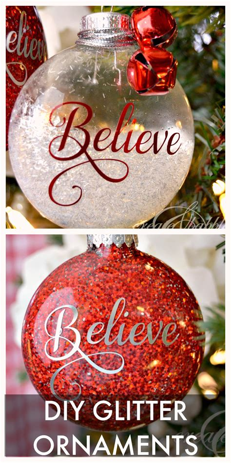 diy ornaments glitter 30 tree ornaments to make tgif this