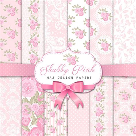 Kaligrafi Shabby Chic Pink shabby chic digital paper shabby pink pink and