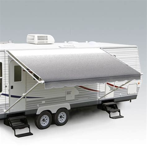 windout awning carefree fiesta wind out awnings silver shale fade