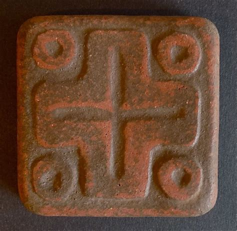 Handcraft Tile - handcraft mayan cross tile
