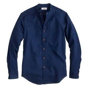 j crew wallace barnes band collar shirt in cotton