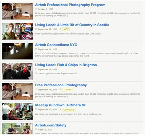 gigaom here s the strategy behind airbnb s mobile web content marketing close up airbnb s content strategy