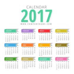 month colors calendar with colors vector free
