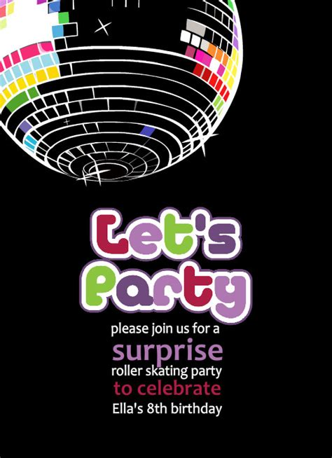 disco template free printable disco invitations templates