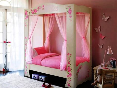 Storage Tips For Small Bedrooms - the cute canopy beds for girls
