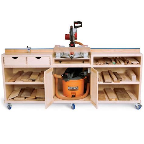 build miter saw bench ultimate miter saw stand downloadable plan workbench