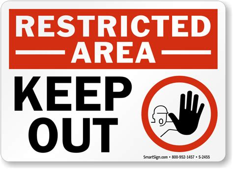 restricted areas restricted area signs