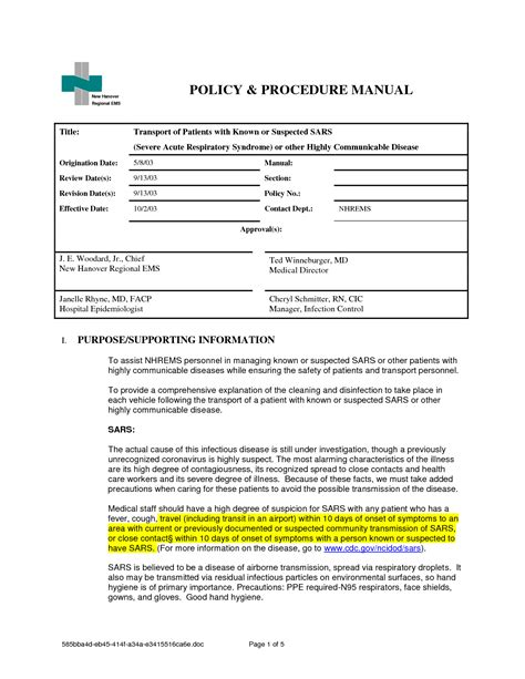 Policies And Procedures Template Lisamaurodesign Policy And Procedure Template Free