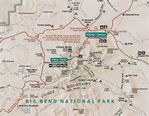 map of big bend south of the chisos mountains big bend national park