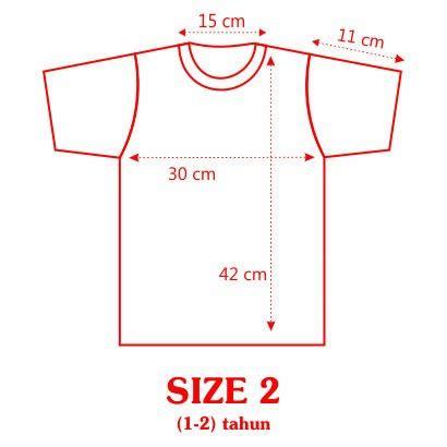 Kaos Ammar Size M 1 tabel ukuran piyama