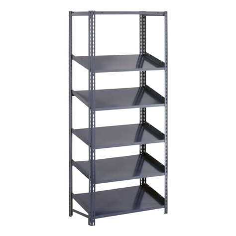 garage shelving units edsal 84 in h x 48 in w x 24 in d 5 shelf high capacity boltless steel shelving unit in gray