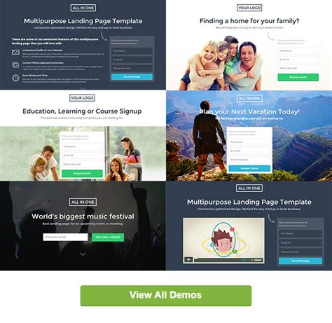 All In One Parallax Muse Template Landing Download Cms Themes Plugins Templates Education Landing Page Templates Free