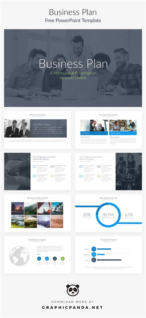 free powerpoint template business plan on behance