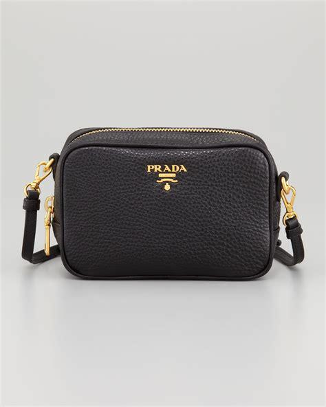 Prada Cross Bag by Lyst Prada Mini Ziptop Crossbody Bag In Black