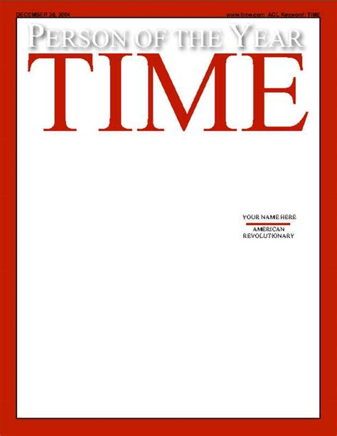 Magazine Cover Template Cyberuse Time Magazine Template