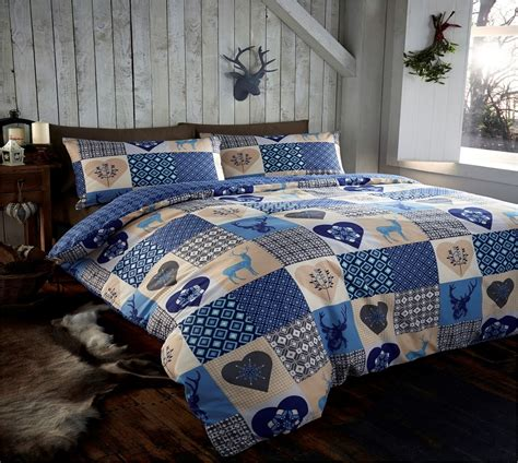 Father Christmas Tree Santa Duvet Quilt Cover Bedding Set Rustic Quilt Bedding Sets