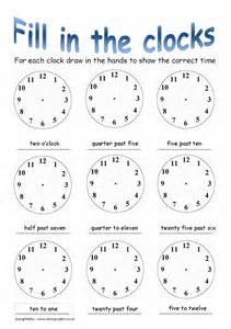 Basic time worksheet 2 a worksheet where pupils are given a time and