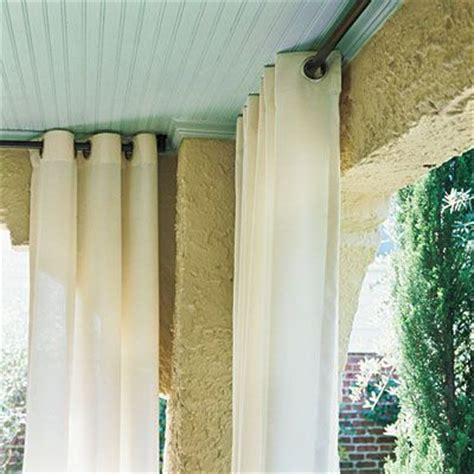 outdoor fabric curtains hang curtains dine outdoors in style outdoor fabric