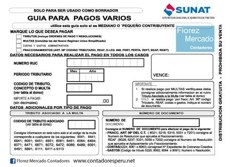 guia de pagos varios 2016 c 243 mo pagar por alquileres a la sunat blog contadores per 250