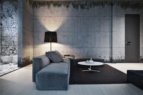 interior concrete walls dynamic modern designs from igor sirotov