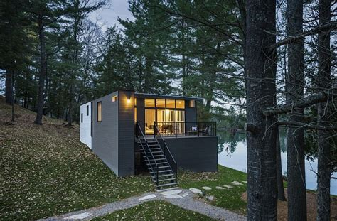 modern cottages modern cottage with woodsy charm by kariouk associates