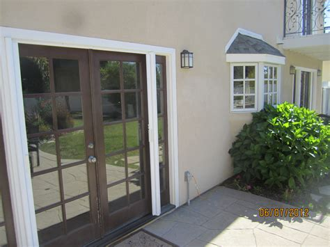 exterior doors with screens exterior view retracted doors of retractable screen