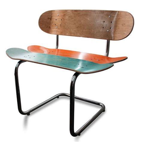 skateboard chairs rail rider skateboard chair handmade pinterest