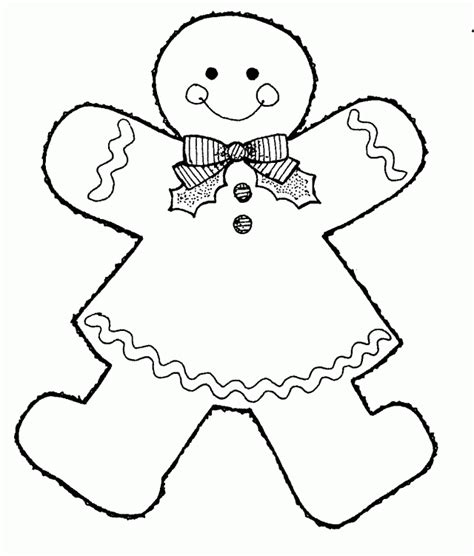 gingerbread girl coloring page az coloring pages