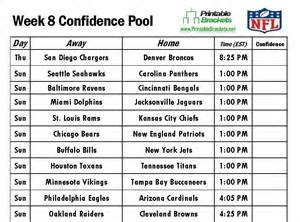 How Do Office Football Pools Work 6 Best Images Of Printable Football Pool Sheets 2015 Week