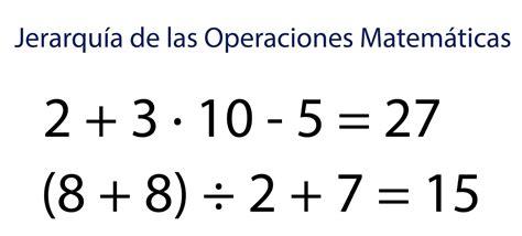 imagenes de operacion matematicas los apuntes del estudiante matem 225 tica jerarqu 237 a de las