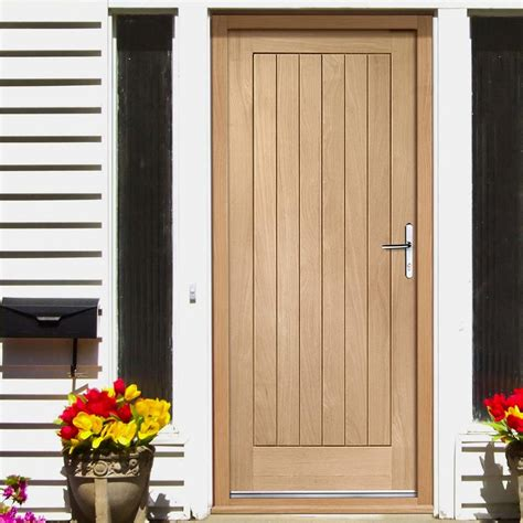Oak Front Door And Frame Suffolk External Oak Door And Frame Set With Fittings