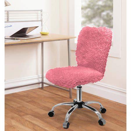 desk chair with fur shop faux fur task chair walmart com