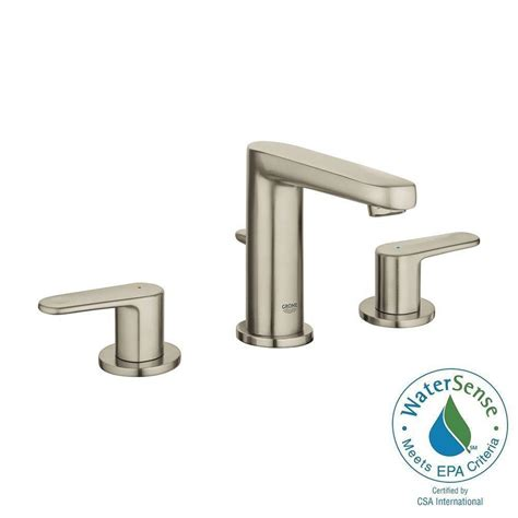 bathtub faucets home depot grohe europlus 8 in widespread 2 handle bathroom faucet in brushed nickel infinityfinish