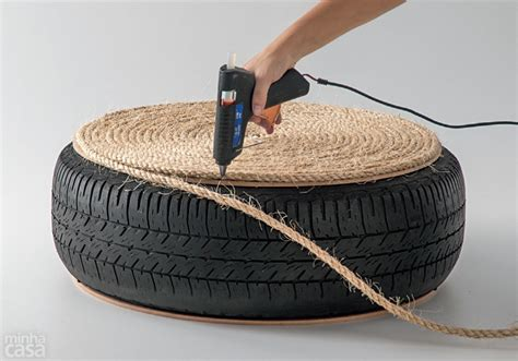 rope tire ottoman how to make turn an old tire into a rope ottoman diy