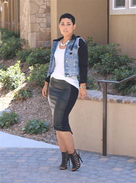 im  baddie leather skirt mimi  style