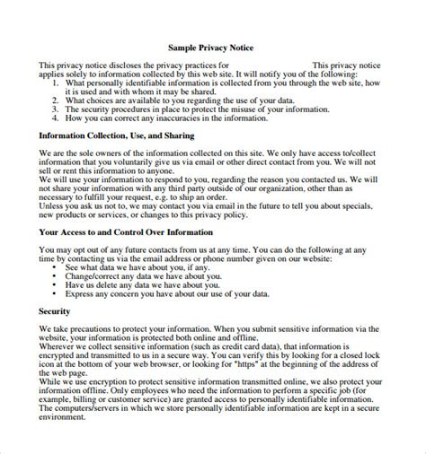 california privacy policy template california privacy policy template images template