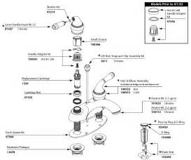parts of the faucet moen 84200 parts list and diagram ereplacementparts