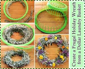 create a frugal holiday wreath from a dollar laundry basket pinlavie com