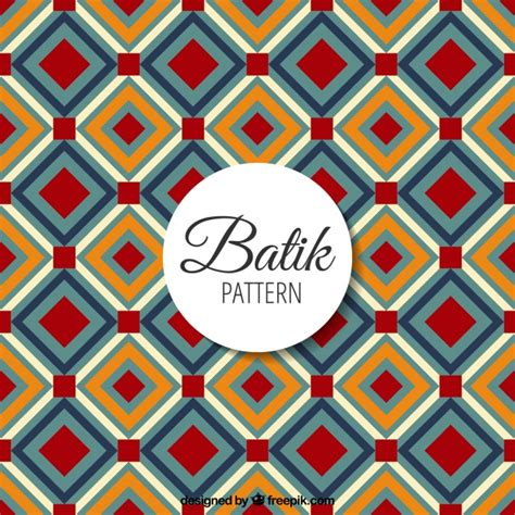 Batik Pattern Vector Ai | batik pattern with geometric shapes vector free download