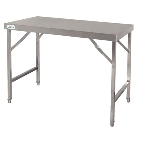 large kitchen tables rectangular vogue stainless steel folding table large rectangular