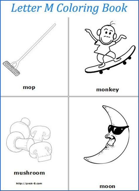 preschool coloring pages letter m letter m words coloring pages preschool abc letters