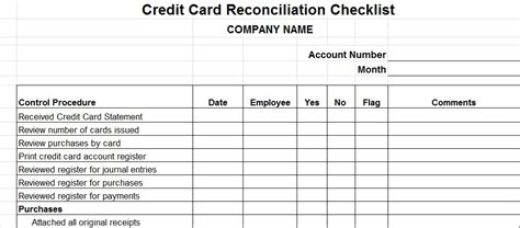Template Credit Card Reconciliation Vitalics Pricing Vitalics