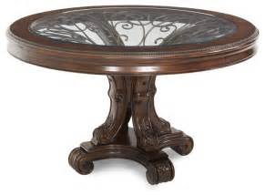 Round Foyer Table Palace Gates Round Dining Table Traditional Dining