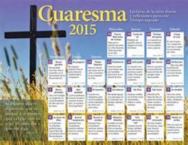 Calendario Cuaresma 2015 Celebraciones Catolicas Cuaresma 2015