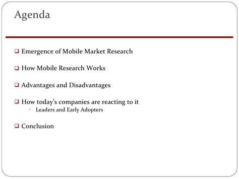 Mba 562 Marketing Research Methods by Mba 615 Mobile Market Research Mis Project