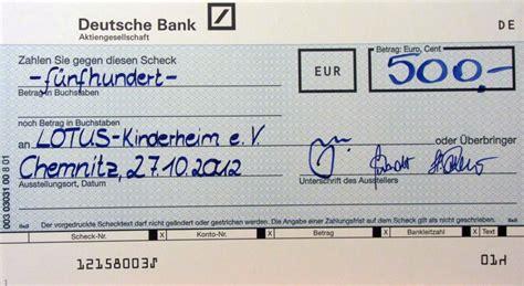 deutsche bank rödelheim zahlung per scheck in deutschland eher eine seltenheit